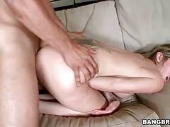 Stunning blond milf loves to get fucked doggy style.
