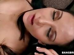 Lovely mature brunette gets her eager pussy pounded.