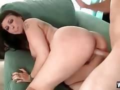 Mature brunette is fond of getting fucked doggy style.