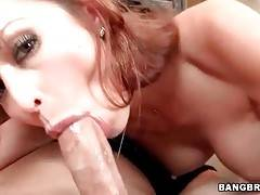 Hot Busty Milf Swallows Thick Cock 3