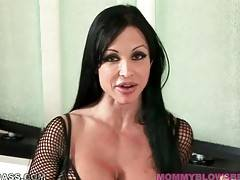 Big boobed brunette milf Jewels Jade is very cock hungry.