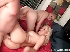 These cock loving mother and daughter like to get pounded together.