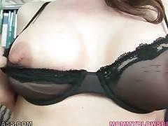 Hot shaped mature slut Nora Noir is fond of good hard fucking.