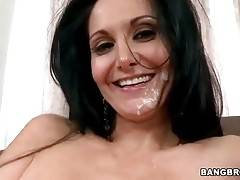 Big Shaped Ava Adams Gets Her Face Spunked 2