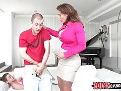 Eva Notty is ready to give a lesson of good fucking to young couple.