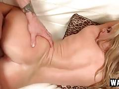 Curvaceous mature blonde gets pounded by her step son.