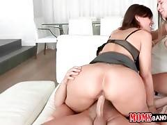 These stunning milf and her cute step daughter are very close.